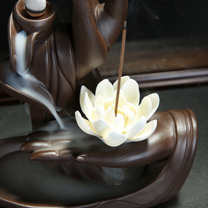 Backflow Incense Ceramic Burner - Lotus, Ceramic burner - All Things Babies