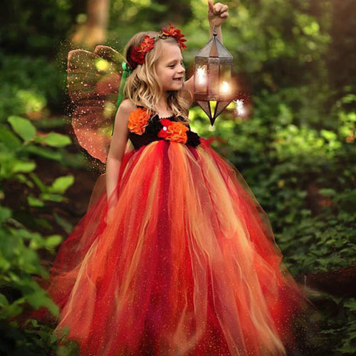Fiery Fairy Tutu Dress, Tutu dress - All Things Babies