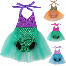 Load image into Gallery viewer, Mermaid Sequin TuTu Romper, Baby clothing - All Things Babies