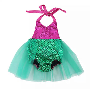Mermaid Sequin TuTu Romper, Baby clothing - All Things Babies