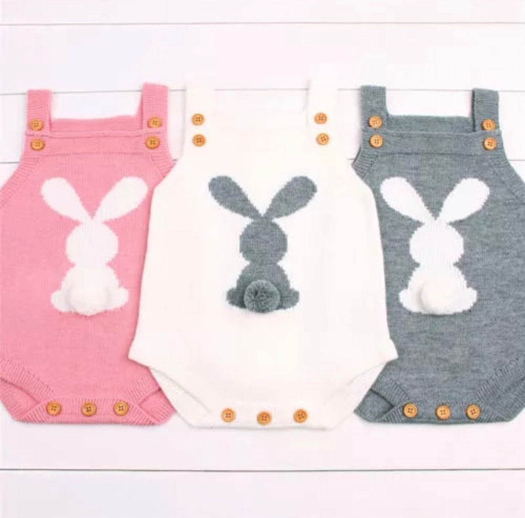 Bunny romper - Knitted, Baby clothing - All Things Babies