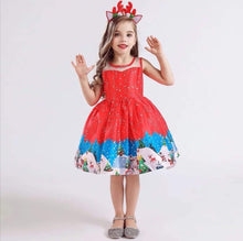 Load image into Gallery viewer, Red Christmas Dress - Girls, Christmas Clothes - All Things Babies