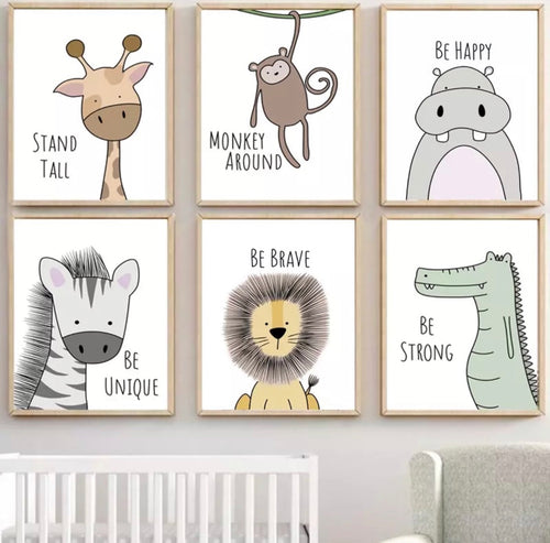 Animal Friends Canvas Prints, Canvass print - All Things Babies