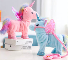 Load image into Gallery viewer, Musical Walking Unicorn, Plush toy - All Things Babies