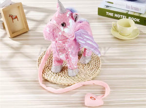 Musical Walking Unicorn (Sequin), Plush toy - All Things Babies
