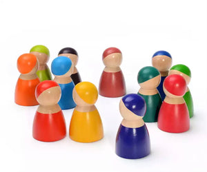 Montessori Wooden Rainbow - People, Montessori toy - All Things Babies
