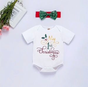 My First Christmas Romper, Christmas Clothes - All Things Babies