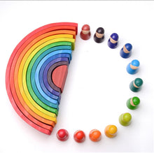 Load image into Gallery viewer, Montessori Rainbow Block, Wooden toy block - All Things Babies