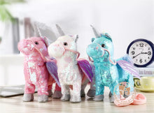 Load image into Gallery viewer, Musical Walking Unicorn (Sequin), Plush toy - All Things Babies
