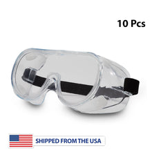 Load image into Gallery viewer, Safety Goggles with Elastic Head Band - 10 Pcs
