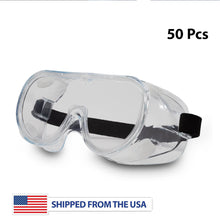Load image into Gallery viewer, Safety Goggles with Elastic Head Band - 50 Pcs