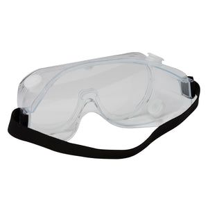 Safety Goggles with Elastic Head Band - 10 Pcs