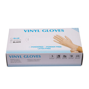 Non-Latex Powder-Free Clear Disposable Gloves - 500 Pcs