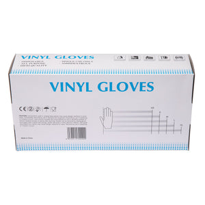 Non-Latex Powder-Free Clear Disposable Gloves - 100 Pcs