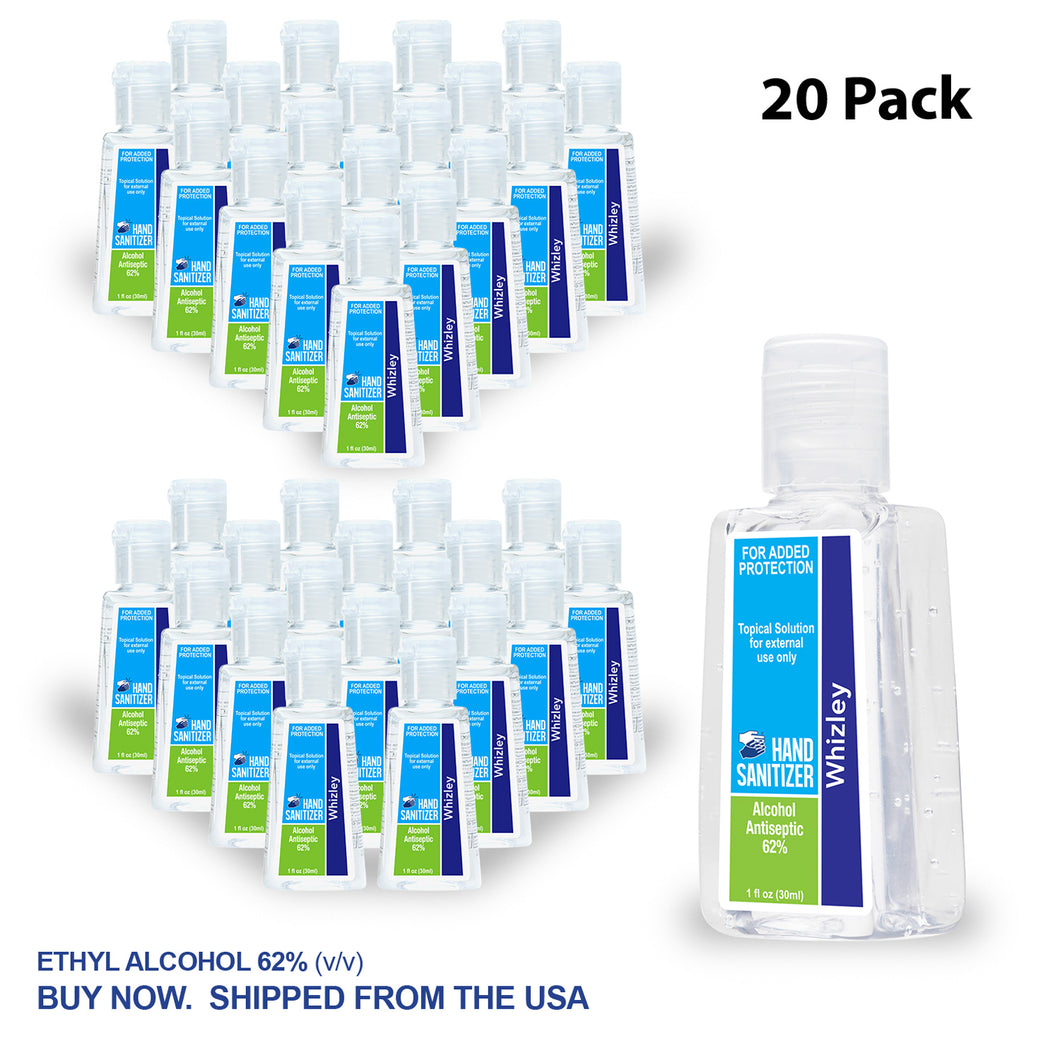 1oz Clear Sanitizer - 40 Pack