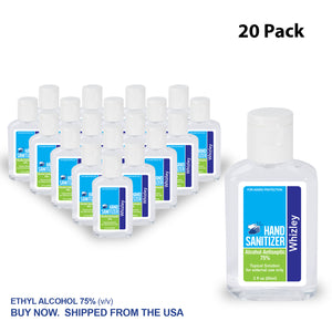 2oz Clear Sanitizer - 20 Pack