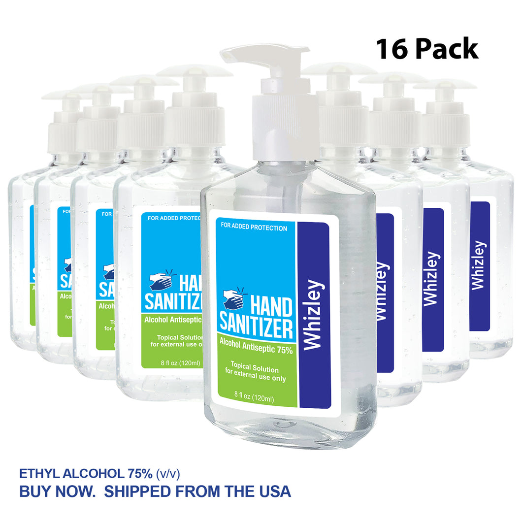 8oz Push Pump Hand Sanitizer - 16 Pack