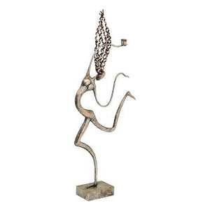 Decoratiune din metal Dancer, 36.2x10.16x90.17 cm - GriDecoratiuni
