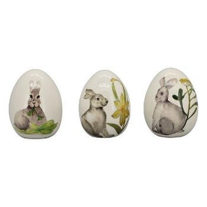 Set 3 Decoratiuni Egg, 6.5x6.5x8.8 cm - AlbDecoratiuni