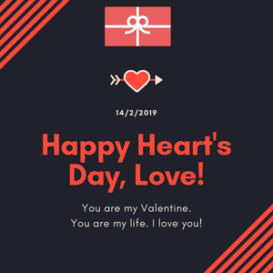 Happy Heart's Day, Love ! - Love is to care of what she likesGift Card
