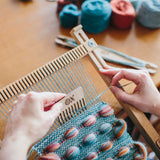 The Oxford Loom weaving with a comb