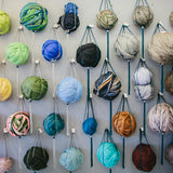 Wool Roving Wall at The Oxford Weaving Studio