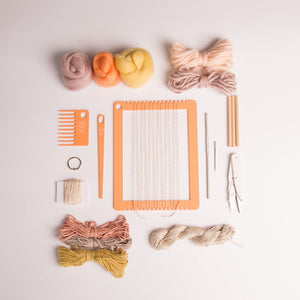 Weaving Kit: Introduction to Weaving  (Rainbow Collection)