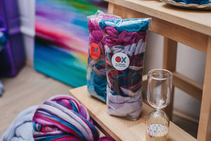 Yarn Starter Pack: Yarn & Wool Roving
