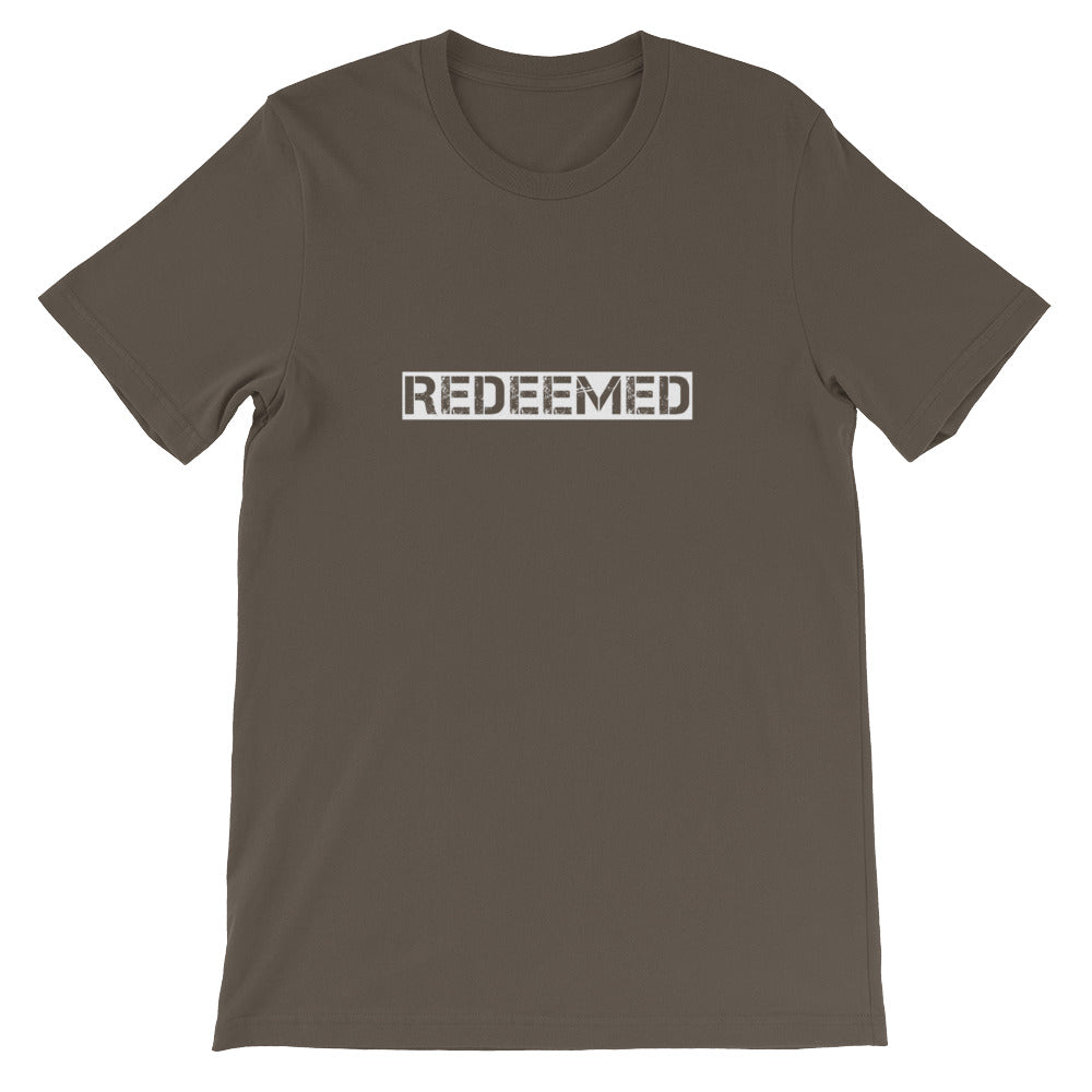 """Redeemed"" Christian T-Shirt for Men/Unisex"