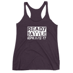 "Ephesians 6:12-17 ""Ready 4 Battle"" Christian Workout Tank for Women"