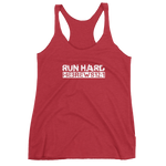 """Run Hard"" Hebrews 12:1 Racer Back Christian Tank Top for Women"