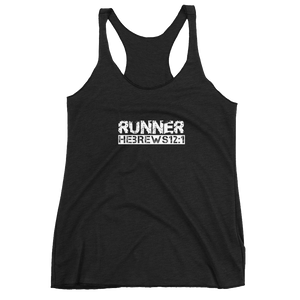 "Hebrews 12:1 ""RUNNER"" Workout Tank"