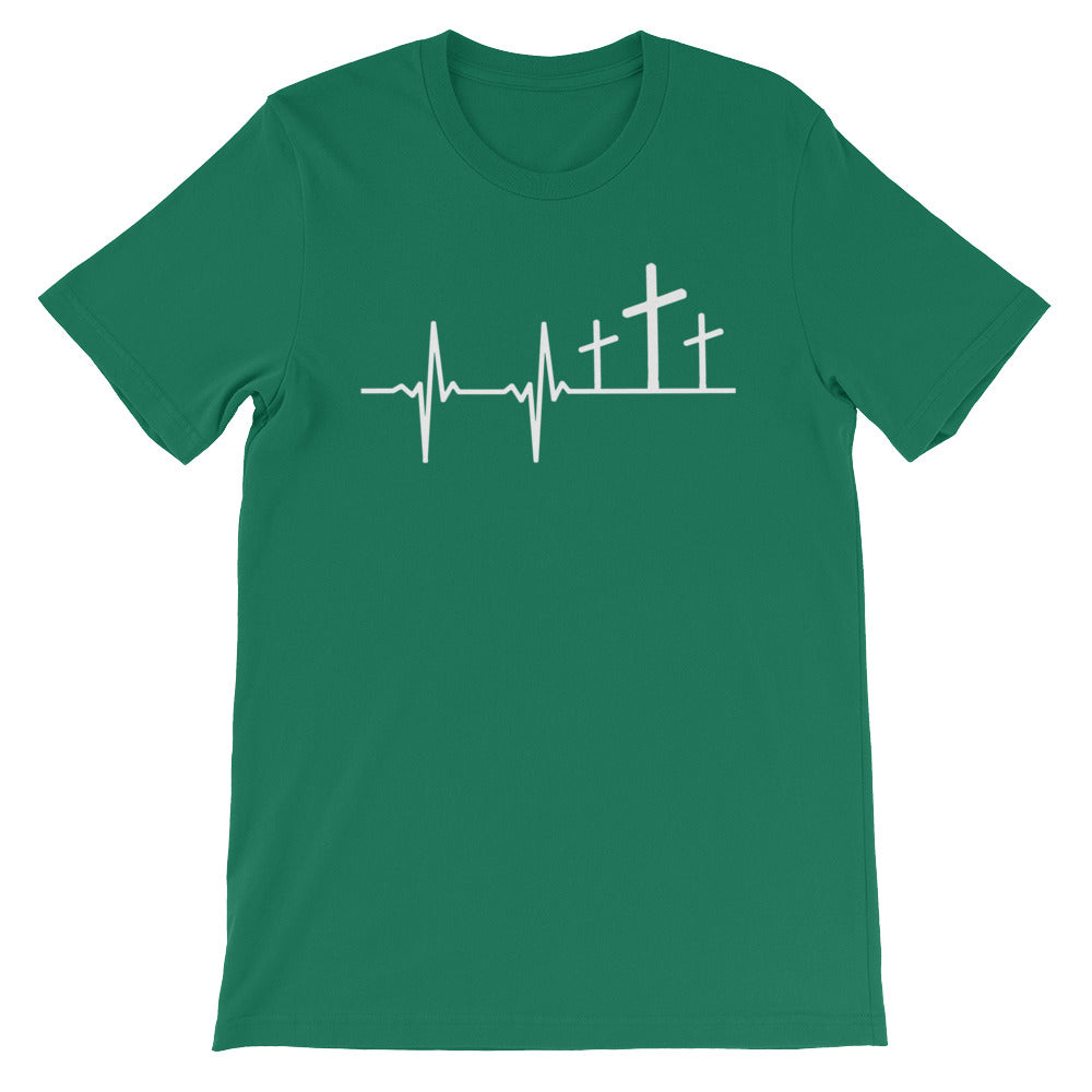 """Heart Beat"" Christian T Shirt for Men/Unisex"