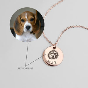 Custom Pet Portrait Necklace (Pick your Pic)