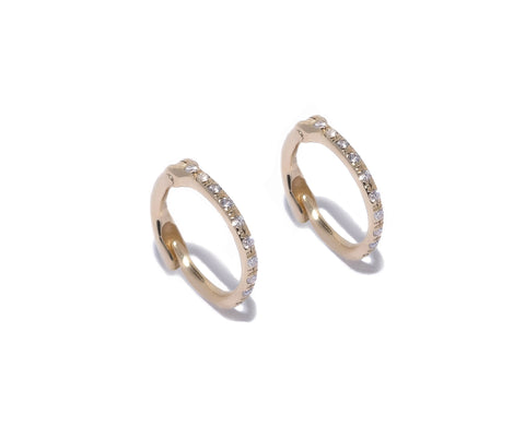 DT Cone Charms on 12mm Hoop Earrings
