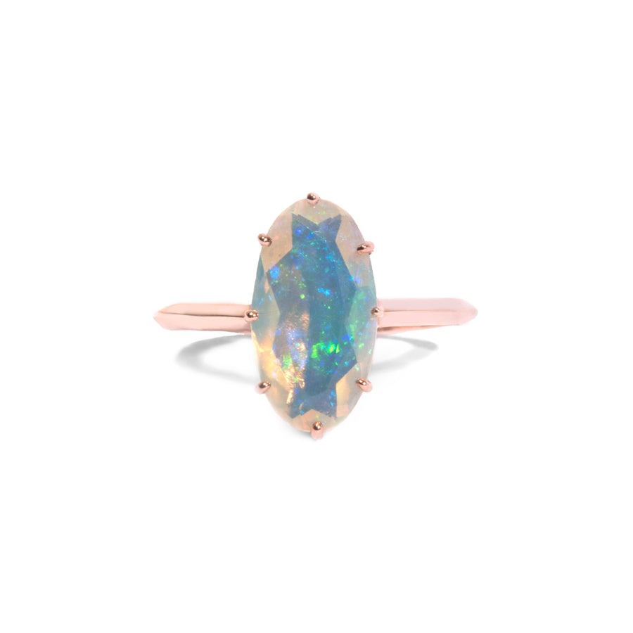 8 Prong Oval Opal Ring
