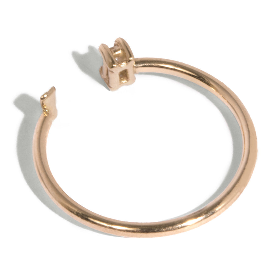 Baguette and Baguette Shape Open Ring