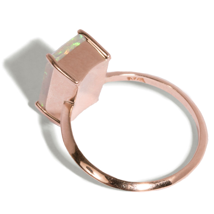 Emerald Cut Opal Ring