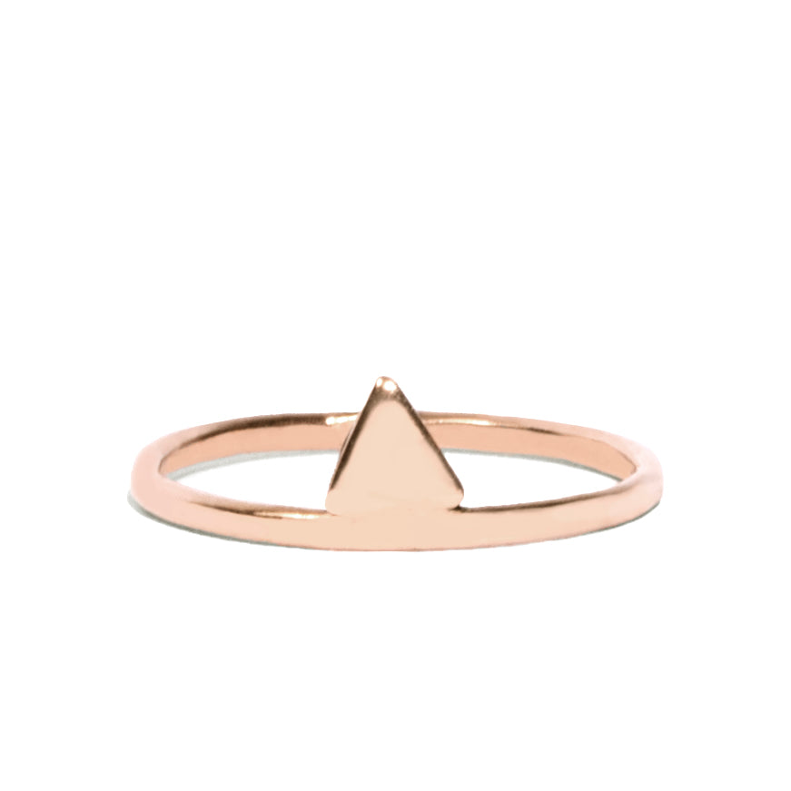 Triangle Mid-Digit Ring