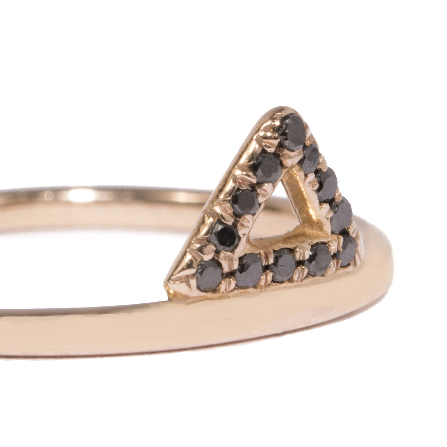 Micro-Pave Triangle Ring