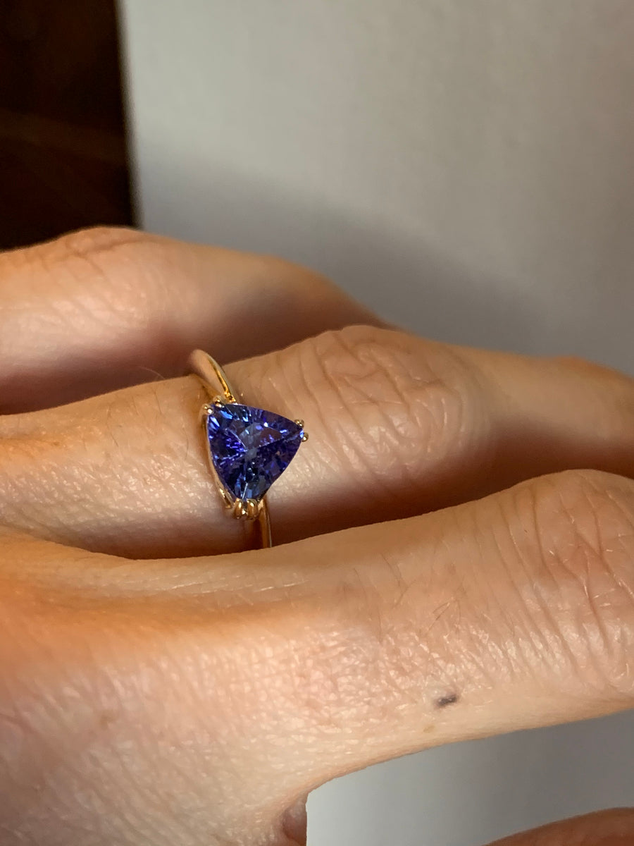 1.5 Carat Pyramid Tanzanite Ring