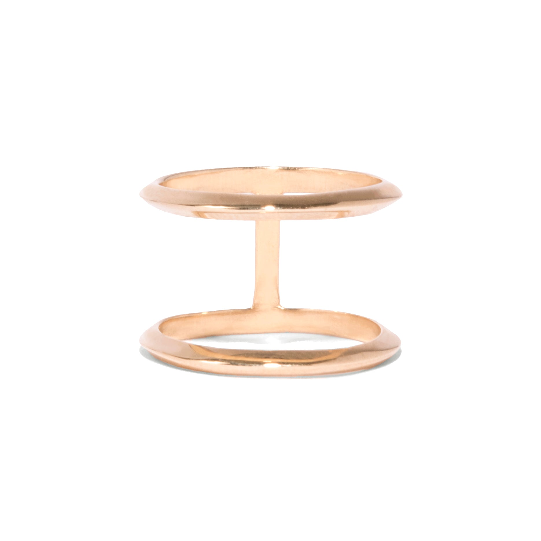 Knife Edge Double Orbit Ring