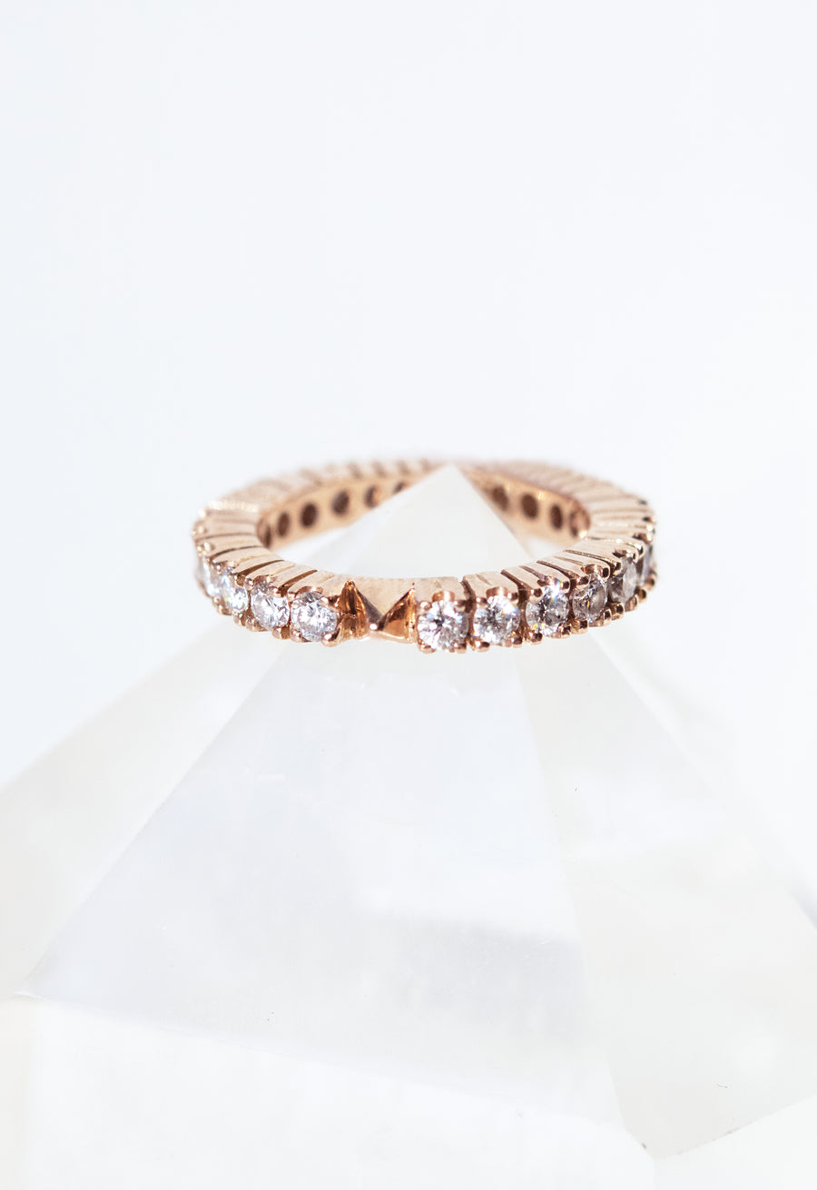 Twenty-Five Diamonds Pyramid Band Ring