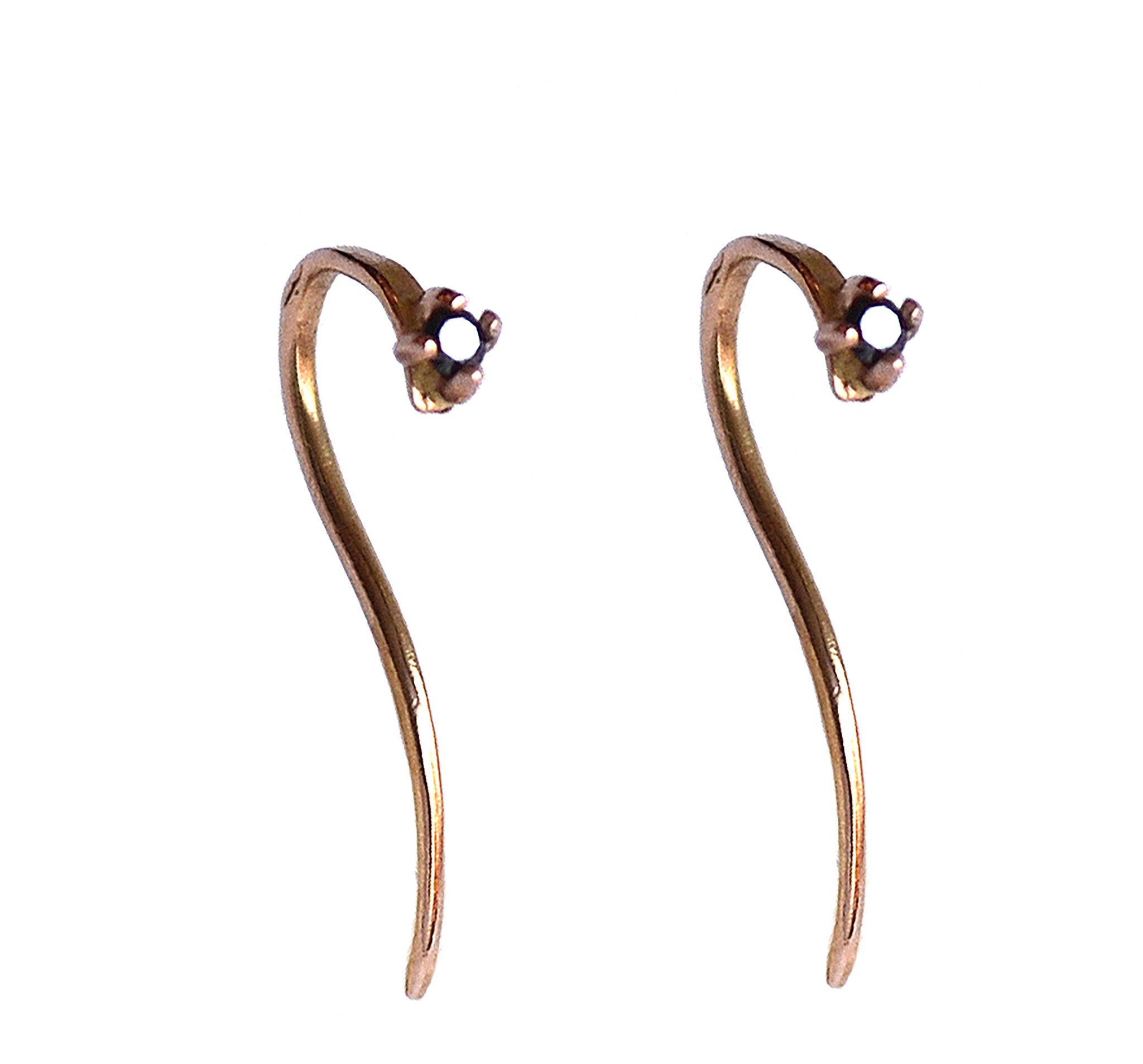 2mm black diamond hook earrings wendy nichol