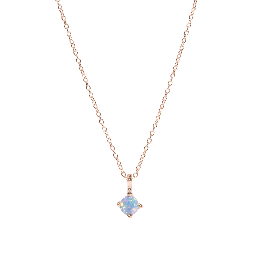 4mm Opal Pendant Necklace