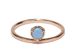 3mm Cabochon Opal Ring Wendy Nichol Fine Jewelry Designer 14k Gold