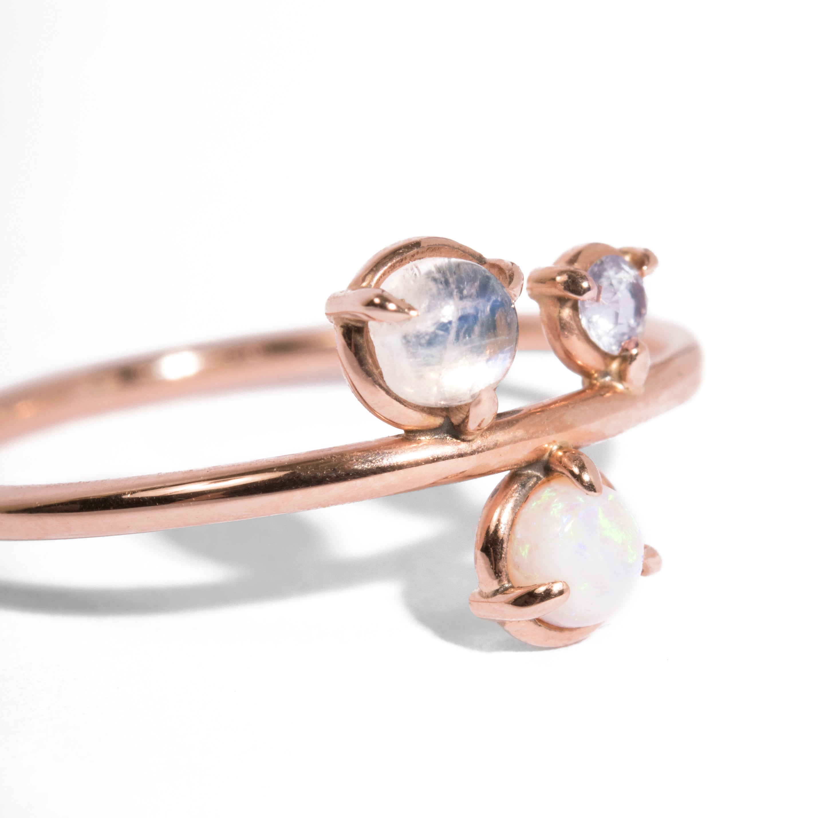 moonstone indigo image products rainbow acbd ring lune stargazer rings