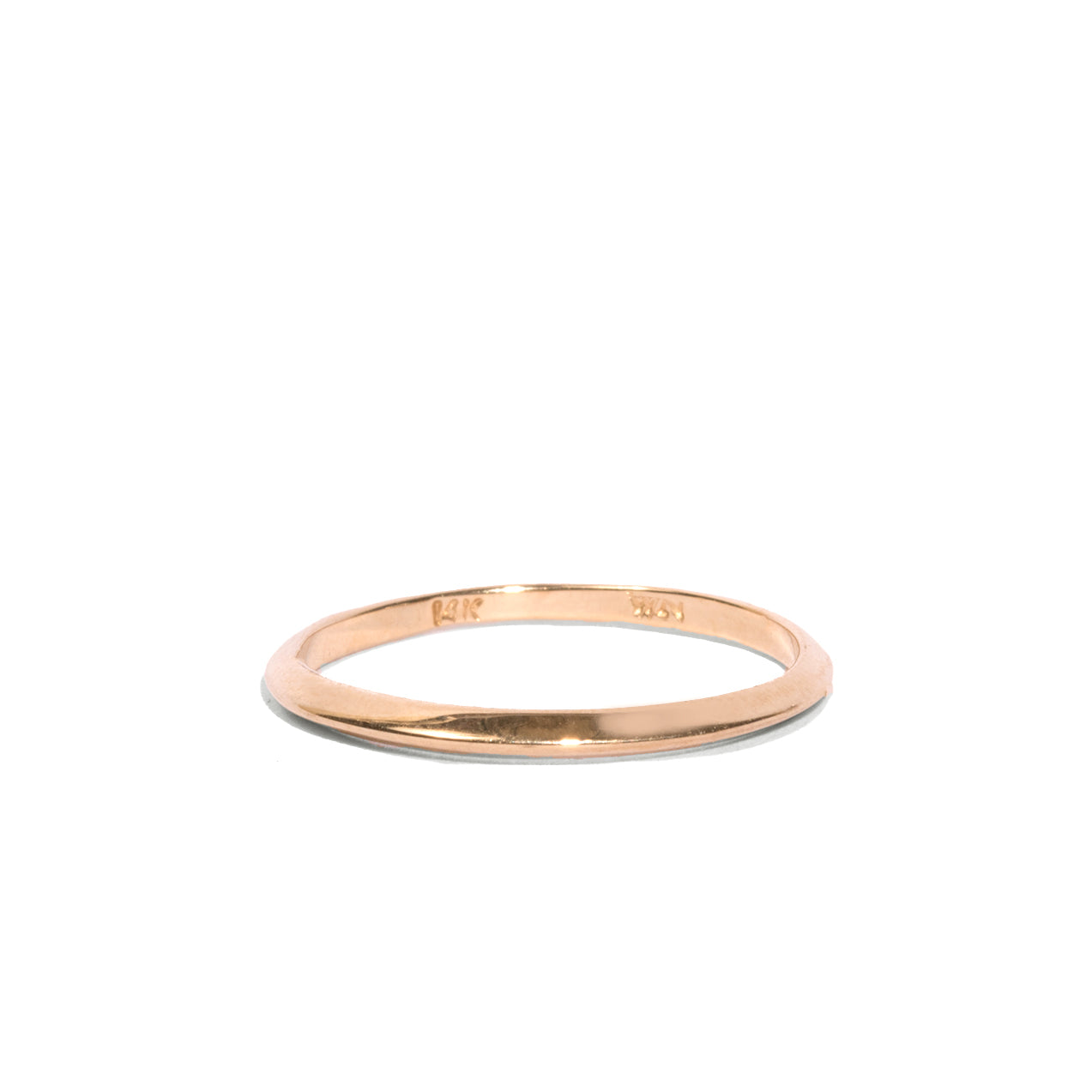Knife Edge Single Thin Orbit Ring