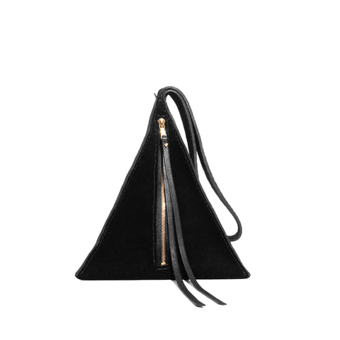 Suede Devil Star Pyramid Handbag