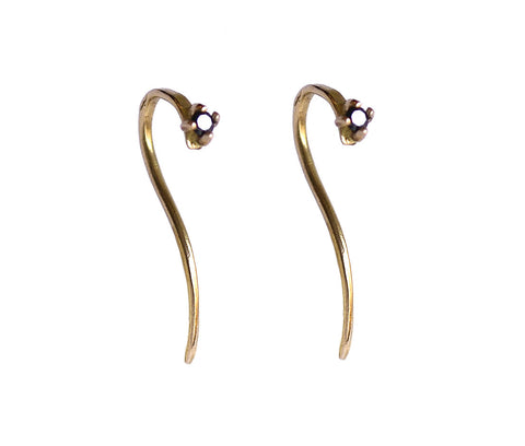 2mm Black Diamond Hook Dangle Earrings Wendy Nichol Fine Jewelry Designer 14k Gold Sterling Silver